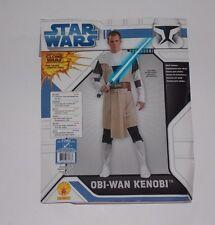 Star Wars Clone Wars Obi-Wan Kenobi Jedi Halloween Costume Mens XL 44-48
