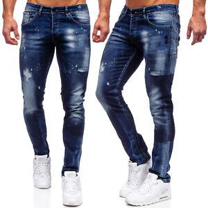 Jeans Freizeithose Hose Denim Casual Clubwear Freizeit Classic Herren BOLF Motiv