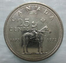 1973 CANADA 25 CENTS RCMP MOUNTIE CIRCULATED COIN