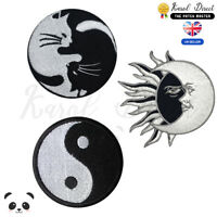 Yin Yang Embroidered Iron On /Sew On Patch Badge For Clothes etc