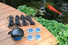 Aquascape 4-Outlet Pond Air 4 Aeration Kit plus line and stones