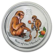 Perth Mint Australia $ 0.5 LS2 Colored Monkey 2016 1/2 oz .999 Silver Coin