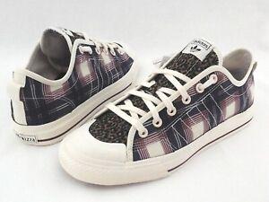 ADIDAS NIZZA RF Shoes Leopard Camo Plaid FV0679 Fashion Sneakers Canvas Men's *