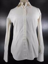 Beautiful Women's XS Coldwater Creek White Fitted Long Sleeve Button Blouse GUC