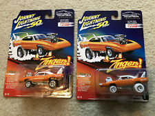 Johnny White Lightning Zingers MDC Exclusive 1970 Plymouth Superbird ORANGE SET