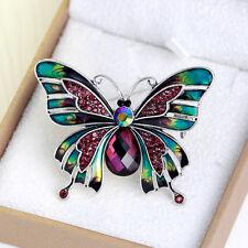 Women Crystal Rhinestone Charm Jewelery Prom Wedding Butterfly Bouquent Brooch