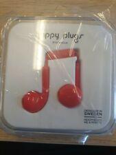 Happy Plugs Earbud Earphones Headphones With Mic & Remote - Red