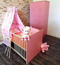 chambre de bébé Chambre d'enfants COMPLET Ensemble de Lit 5 Armoire ROSE Gravure