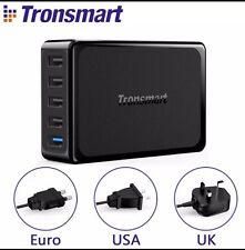 Carga rápida Original [3.0] TRONSMART 54W 5 Puerto Carga USB HUB de varios puertos