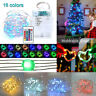 5M 50LED 4 Wire Changing Fairy String Light Battery Operated USB 6 Multi-Color
