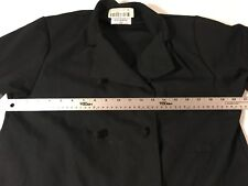 Pinnacle Hd Solid Black 38 Small 8 Button Cotton Blend Chefs Cook Uniform Coat