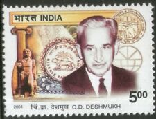 INDIA 2004 C D Deshmukh 1st Reserve bank of India Governor RBI Logo stamp 1v MNH
