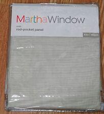 """MARTH STEWART WINDOW ROD-POCKET SHEER PANEL, """"VOILE"""", MOONBEAM, 60""""X63"""""""