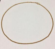 Collana Maglia Rolo' Oro Rosa 18 Kt Lunga