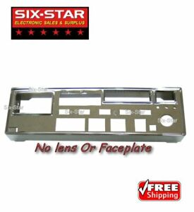 Chrome Front Bezel For Galaxy DX-55 DX-66 CB 10 Meter Radio NO FACEPLATE OR LENS