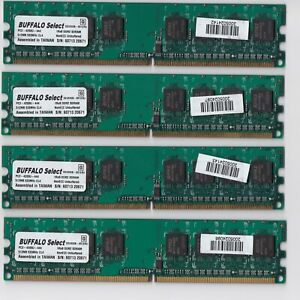 BUFFALO Select DDR2 RAM 512MB module 2GB kit PC2-4200U 533MHz D2U533B-S512/BJ