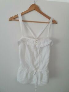Hollister Women's Sleeveless Top with crossover straps, Size Small, White