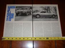 1967 ROYAL PONTIAC FIREBIRD RAM AIR - ORIGINAL VINTAGE ARTICLE