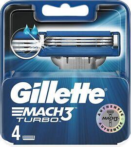 Gillette Mach 3 Turbo Rasoir Lames X 4