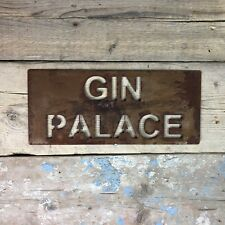 More details for rusted gin palace rustic sign christmas birthday present gift for her wife lady