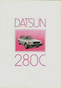 Datsun Nissan 280C 1980-84 UK Market Sales Brochure Cedric Saloon Estate