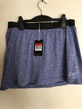 New Nike Women Golf Converge Seamless Blue Heather Skirt Short 725780-485