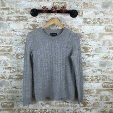 bloomingdales Cashmere Sweater gray cable knit womens size small