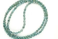 """30.00 ct Rare Natural Loose Polished Blue Long Drill Diamonds 15"""" Necklace ."""