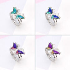 Colorful Butterfly Mood Ring Temperature Emotion Feeling Rings For Women Kids