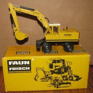 Faun Frisch HM1035 Hydraulic Excavator 1/50 NZG Toy 174 Made W Germany