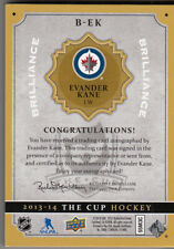 HOT! EVANDER KANE 2013-14 UPPER DECK THE CUP BRILLIANCE AUTOGRAPH #B-EK AUTO