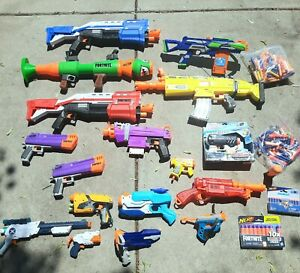 Huge Lot of 15+ Nerf Blasters - mostly Fortnite, Nerf War, Nerf Birthday Party