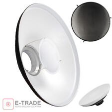 "16.5"" WHITE Beauty Dish + Honeycomb Grid + Diffuser - Bowens S Type Mount 42cm"