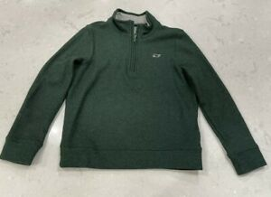 VINEYARD VINES Boys Toddler Size 6 Green 1/4 Zip Pullover Sweater
