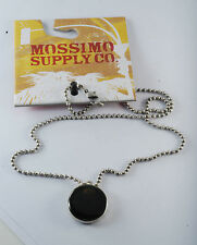 NEW MOSSIMO SUPPY CO. DESIGNER CHARM HOLOGRAM SKULL PENDANT CHAIN NECKLACE NWT