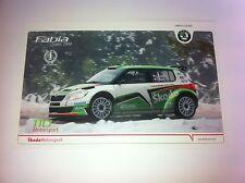 CP POSTCARD CARTOLINA SKODA FABIA KOPECKY RALLY MONTE CARLO RALLYE WRC 2011