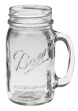 Made in USA Bridal Wedding Large BALL MASON 24 oz Drinking Glass Jar with Handle