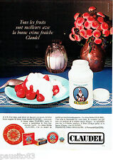 PUBLICITE ADVERTISING 1016  1967  Claudel  la creme fraiche d'Isigny