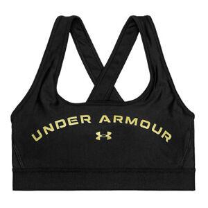 Under Armour Womens Crossback Medium Support Black Ladies Sports Bra S