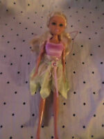 "Fairy Butterfly Blond Haired Doll Pink Green 12"" Doll Heavy Duty Toy"