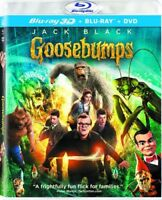 Goosebumps [New Blu-ray 3D] With DVD, UV/HD Digital Copy, 3 Pack, Ac-3/Dolby D