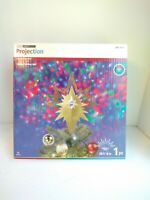 GEMMY CHRISTMAS PROJECTION KALEIDOSCOPE LED LIGHT SHOW TREE TOPPER GOLD STAR NEW