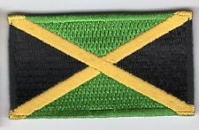 Jamaica Flag Patch Embroidered Iron On Applique Jamaican