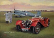 Supermarine Spitfire Jaguar SS100 Aircraft Car Birthday Fathers Day Blank Card
