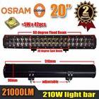 """20inch 210W OSRAM LED Light Bar Spot Flood Combo Work Driving Lamp 12V 24V 21"""""""