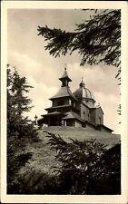 Beskydy Beskiden Slowakei s/w Postkarte 1950 gelaufen Kaple na Radhošti Kapelle