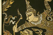 Vintage Hindu Art, Lord Rama Antique Art Supreme Being- God Vishnu. 23X25 Framed