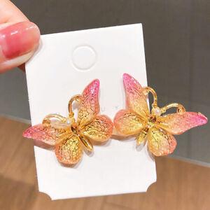 Women Girls Butterfly Hair Clip Hair Pins Acrylic Metal Clamps Hair Accessor L3