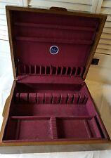 Beautiful NAKEN Flatware Silverware Wooden Storage Chest Box Tarnish Proof Exc!