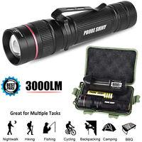 3000LM Mini Zoomable CREE XM-L Q5 LED 18650 Flashlight Torch Super Bright Light